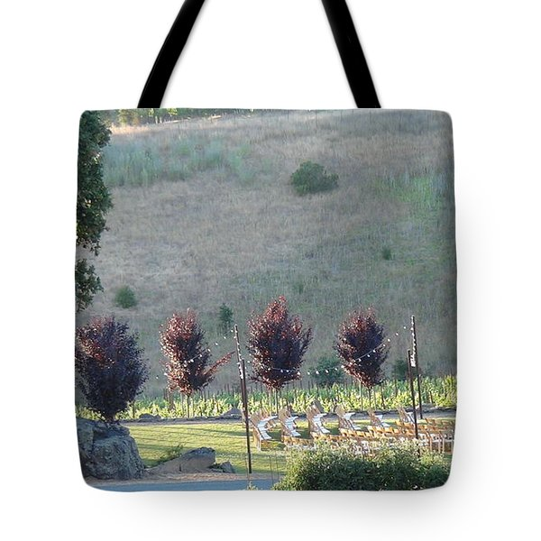 Tote Bag featuring the photograph Wedding Grounds by Shawn Marlow