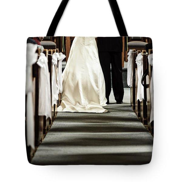 Wedding In Church Tote Bag