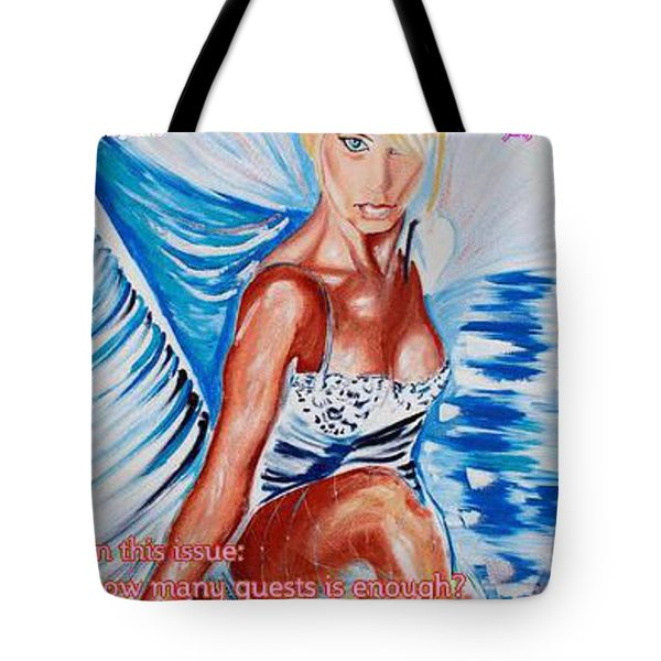 Wedding Lingerie Magazine Cover Tote Bag by PainterArtist FIN