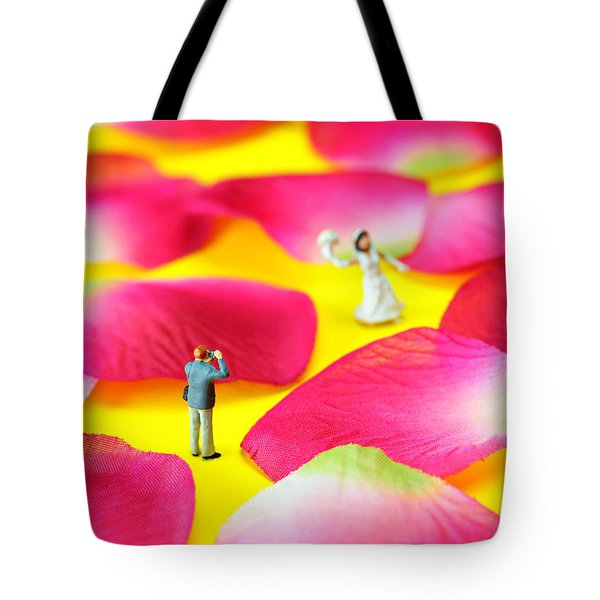 Wedding Photography Little People Big Worlds Tote Bag by Paul Ge