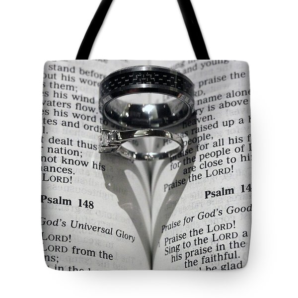Wedding Ring Heart Tote Bag by Shoal Hollingsworth