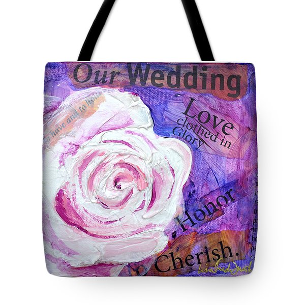 Wedding Rose Tote Bag