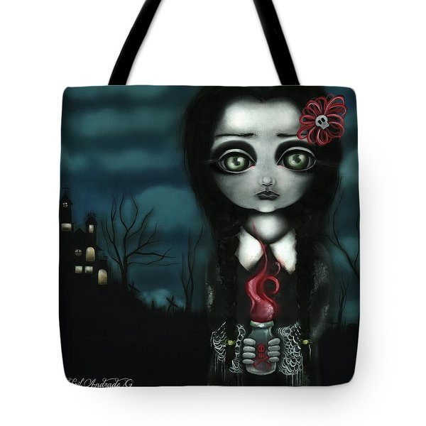 Wednesday  Tote Bag by Abril Andrade Griffith