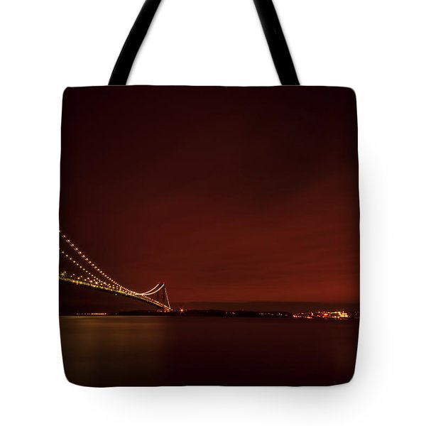 Wednesday Night Lights Tote Bag by Evelina Kremsdorf