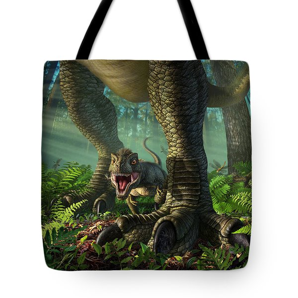 Wee Rex Tote Bag by Jerry LoFaro
