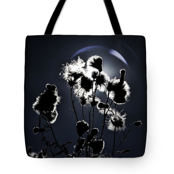 Weed Silhouette Tote Bag