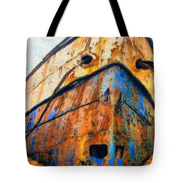 Weeping Ship Tote Bag by George Rossidis