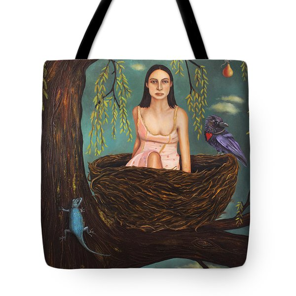 Weeping Willow Tote Bag by Leah Saulnier The Painting Maniac