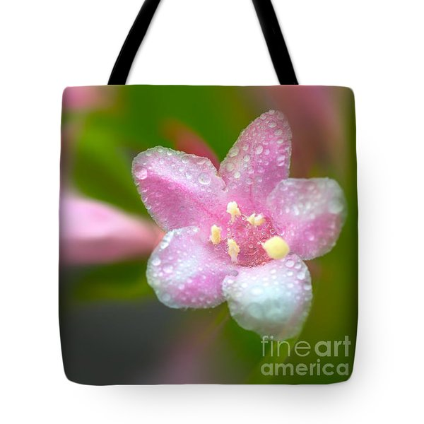 Tote Bag featuring the photograph Weigela In Spring by Bernd Laeschke