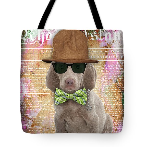 Weimaraner Bowtie Collection Tote Bag by Marvin Blaine