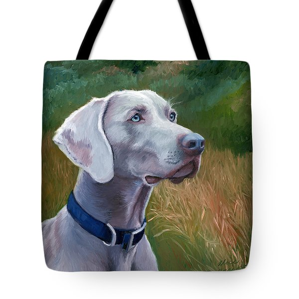 Weimaraner Dog Tote Bag by Alice Leggett