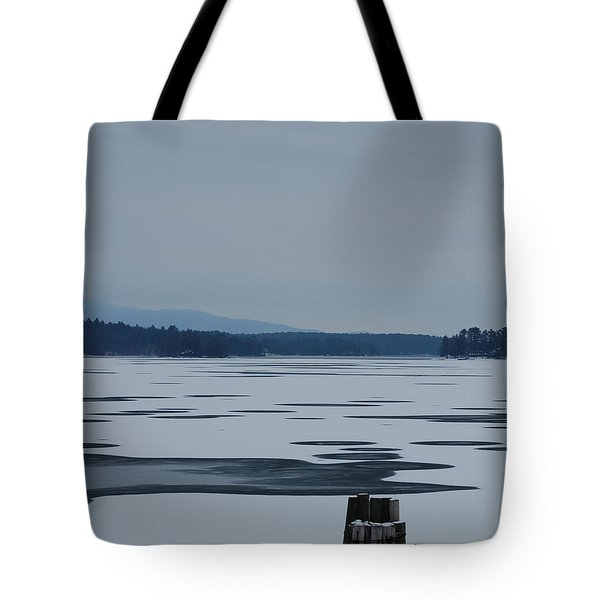 Tote Bag featuring the photograph Weirs Beach Nh Almost by Mim White