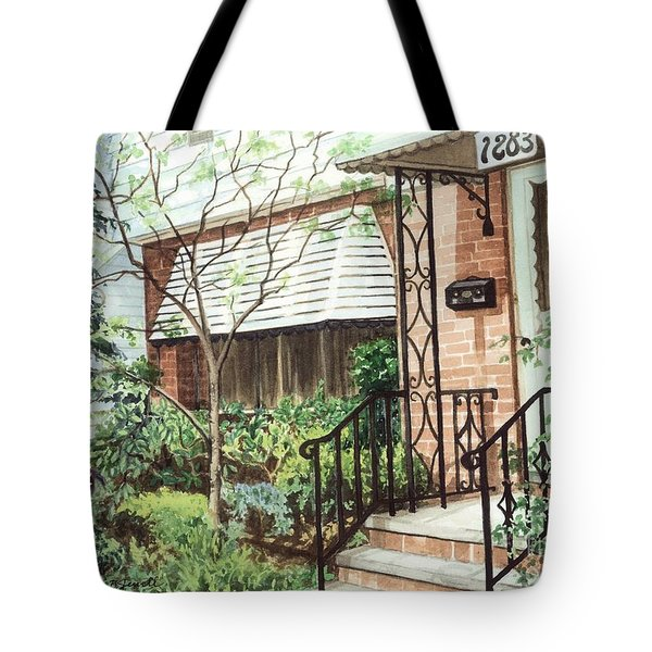Tote Bag featuring the painting Welcome Home by Barbara Jewell