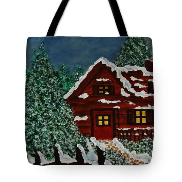 Tote Bag featuring the painting Welcome Home by Celeste Manning