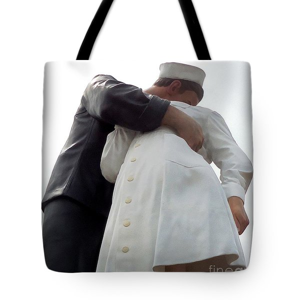 Welcome Home Kiss Tote Bag by Ann Johndro-Collins