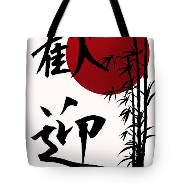 Welcome In Kanji Script Tote Bag