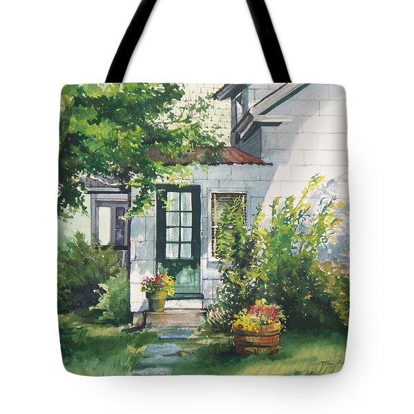 Tote Bag featuring the painting Welcome by Joy Nichols