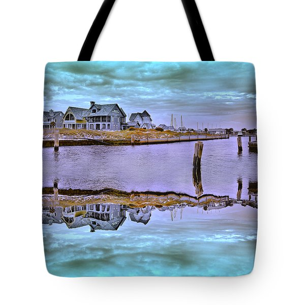 Welcome To Bald Head Island II Tote Bag by Betsy Knapp