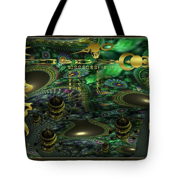 Welcome To Cosmic City Tote Bag by Robert Kernodle