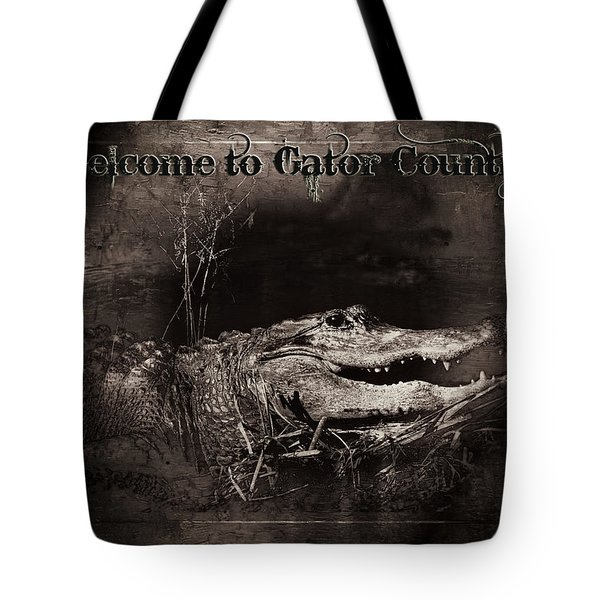 Welcome To Gator Country Tote Bag