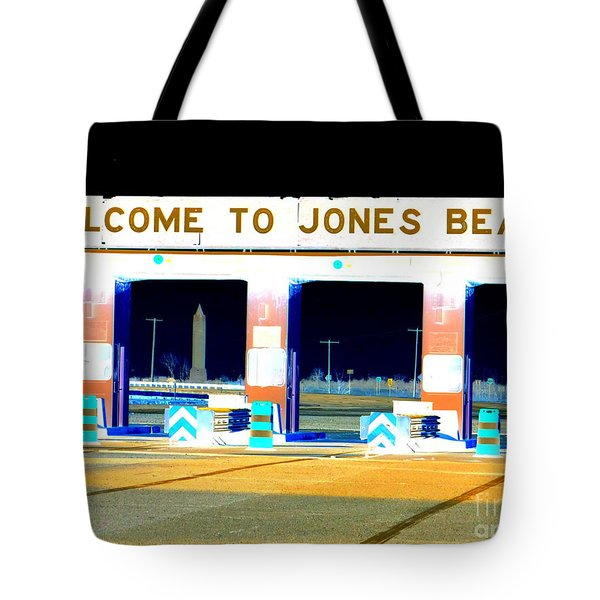 Welcome To Jones Beach Tote Bag by Ed Weidman