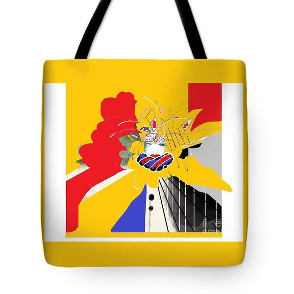 Tote Bag featuring the mixed media Welcome To New Orleans 2 by Ann Calvo