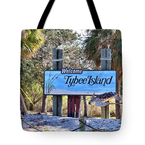 Welcome To Tybee Tote Bag by Gordon Elwell