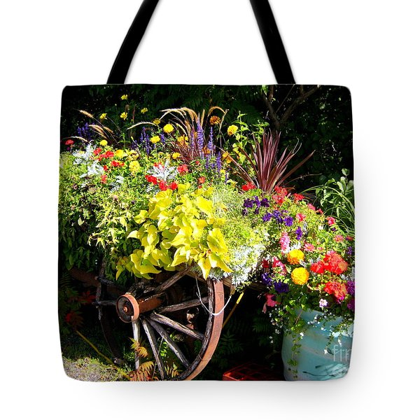 Welcome Wagon Tote Bag by Kathy Bassett