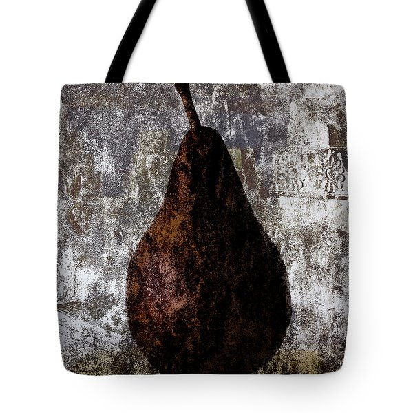 Well-read Pear Tote Bag by Carol Leigh