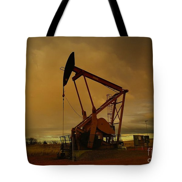 Wellhead At Dusk Tote Bag by Jeff Swan