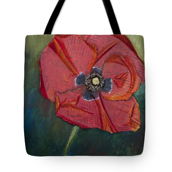 Wellness Poppy Tote Bag