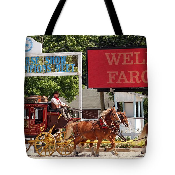Tote Bag featuring the photograph Wells Fargo At Devon by Alice Gipson