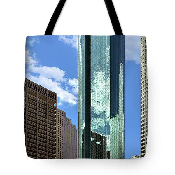 Wells Fargo Plaza Houston Tx Tote Bag by Christine Till