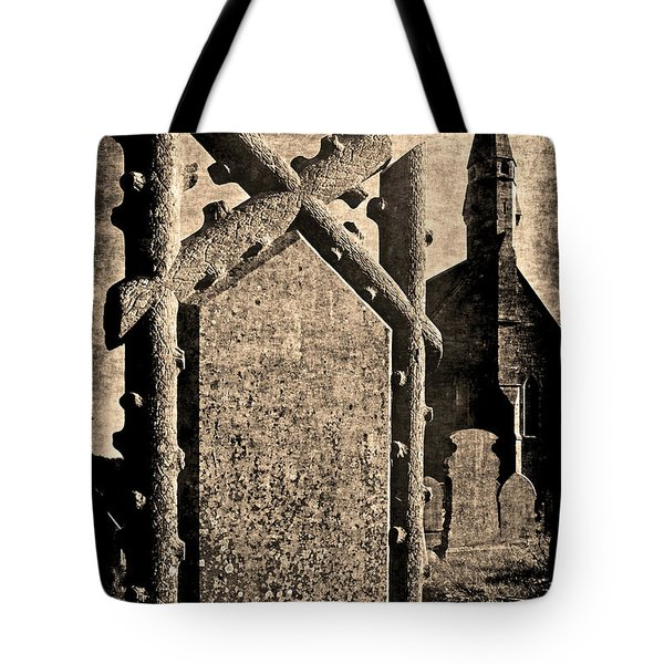 Tote Bag featuring the photograph Welsh Graveyard by Jennifer Wright
