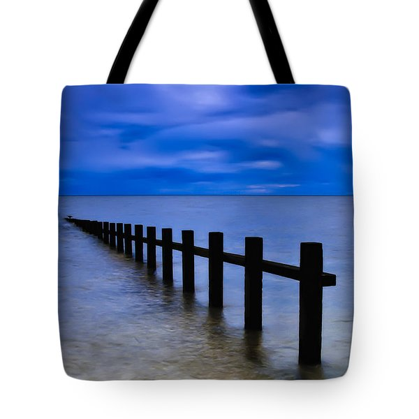 Welsh Seascape Tote Bag by Adrian Evans