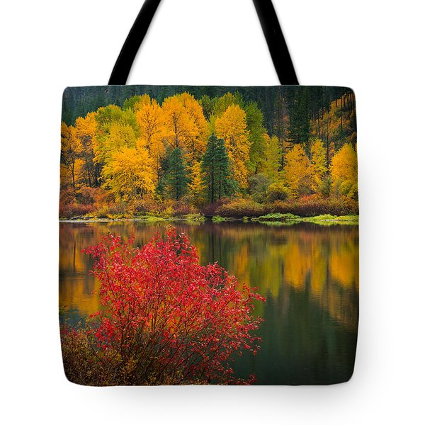 Wenatchee River Reflections Tote Bag