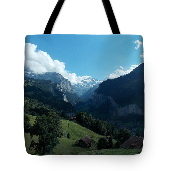 Wengen View Of The Alps Tote Bag