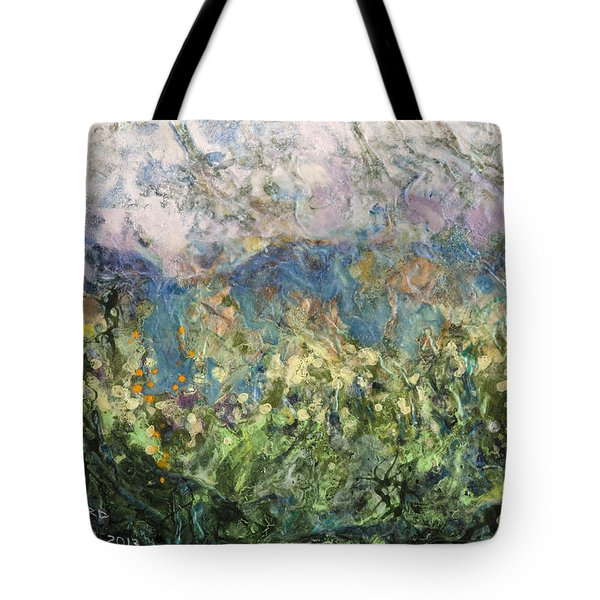 Tote Bag featuring the painting We're Halfway There by Ron Richard Baviello
