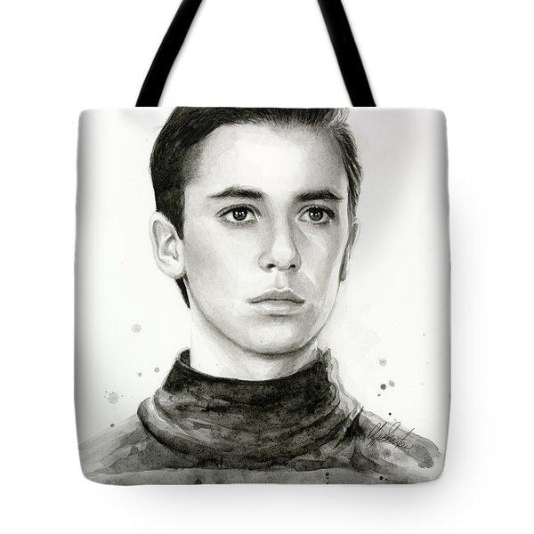 Wesley Crusher Star Trek Fan Art Tote Bag
