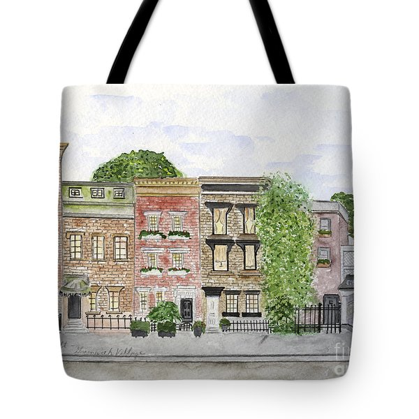 West 11th St In Greenwich Village Tote Bag