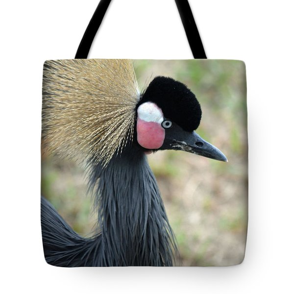 West African Crowned Crane Tote Bag by Richard Bryce and Family