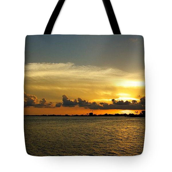 West Bay Sunset Tote Bag