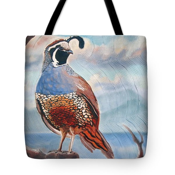 West Coast Quail Tote Bag