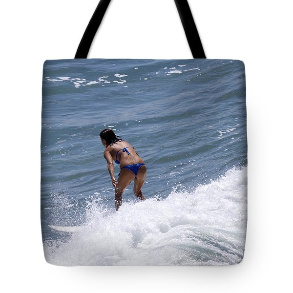West Coast Surfer Girl Tote Bag