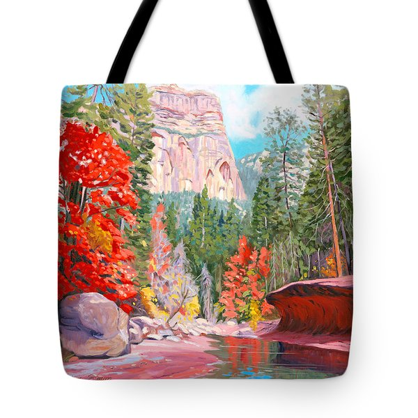 West Fork - Sedona Tote Bag by Steve Simon