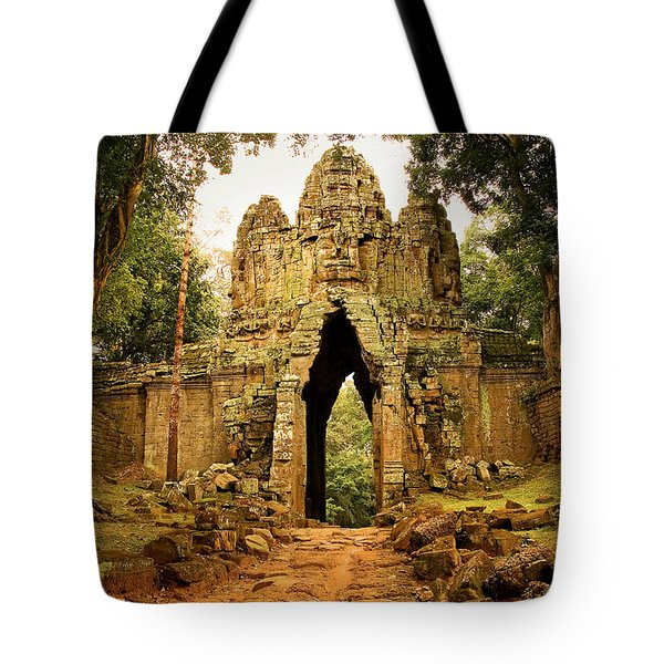West Gate To Angkor Thom Tote Bag