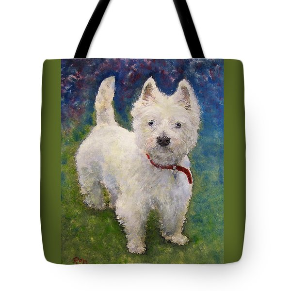 West Highland Terrier Holly Tote Bag