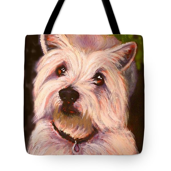 West Highland Terrier Reporting For Duty Tote Bag