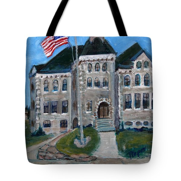 West Hill School In Canajoharie New York Tote Bag by Betty Pieper