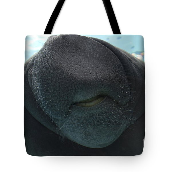 West Indian Manatee Smile Tote Bag